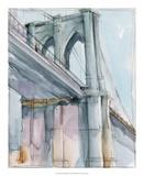 Watercolor Bridge Study II Reproduction giclée Premium par Ethan Harper