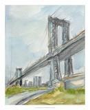 Plein Air Bridge Study I Reproduction giclée Premium par Ethan Harper