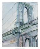 Watercolor Bridge Study I Reproduction giclée Premium par Ethan Harper