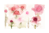 Watercolor Painting of Abstract Flowers Affiches