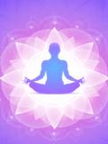Purple Yoga Faith Meditation Reproduction procédé giclée par  Wonderful Dream