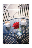 Rose in Vase with Coffee in Cafeî' Plakater