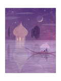 Couple on a Gondola at Night Plakater
