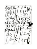 Its Called Life Lettering Láminas