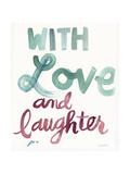 With Love and Laughter Lettering Póster