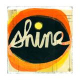 Shine Lettering in Orange Circle Giclée-Premiumdruck