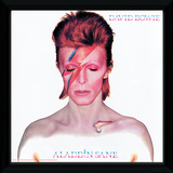 David Bowie - Aladdin Sane Framed Album Art Stampa del collezionista