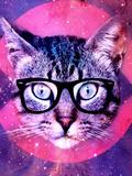 Hipster Cat With Glasses Reproduction procédé giclée par  Wonderful Dream