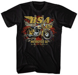 Birmingham Small Arms- BSA 650 Distressed Union Jack T-Shirts