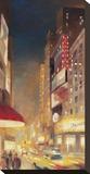 City Lights Opspændt lærredstryk af Paulo Romero