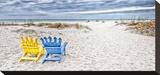 Beaching It Impressão em tela esticada por Mary Lou Johnson