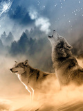 Fantasy Wolf Wolves Animal Poster van  Wonderful Dream