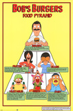 Bobs Burgers- Food Pyramid Prints