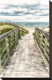 Seaside Entry Impressão em tela esticada por Mary Lou Johnson