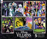 Disney Villains 5 in 1 Jigsaw Puzzles Jigsaw Puzzle