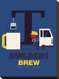 Builders Brew Stampa su tela di Spencer Wilson
