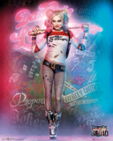 Suicide Squad- Harley Quinn Neon Graffiti Kunstdrucke