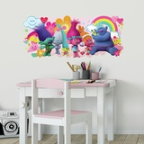 Trolls Movie Peel and Stick Giant Wall Decals Muursticker
