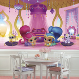 Shimmer and Shine Genie Palace XL Chair Rail Prepasted Mural Wallpaper Mural