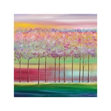 Redbud Trees Giclee-trykk av Mary Johnston
