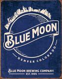Blue Moon - Skyline Logo Retro ブリキ看板