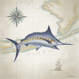 Sailfish Map I Art by Rick Novak