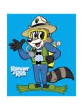 Ranger Rick Scuba Diving Póster