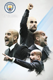 Manchester City- Pep Guardiola 16/17 Posters
