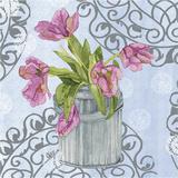 Garden Gate Flowers I Print by Leslie Mark