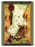 French Equatorial Africa (Afrique Equatoriale Française) - Central Africa Láminas por Alain Cornic