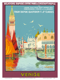 Venice (Venise), Italy - Venetian Grand Canal - Fast Train Daily Posters af Geo Dorival