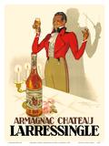 Armagnac Chateau Larressingle - French Brandy Prints by Henri Le Monnier