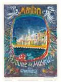 Menton, France - Chamber Music Festival (Festival de Musique de Chambre) Print by Constantin Terechkovitch