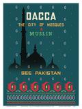 Dhaka (Dacca) - The City of Mosques & Muslin Kunstdrucke von  Motahar