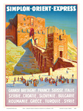 Syria - Simplon Orient Express - Citadel of Aleppo Kunstdrucke von Joseph de La Nézière