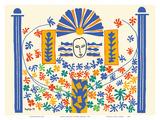 Apollo (Apollon) - Artist Model for a Ceramic Tile Mural Plakater av Henri Matisse