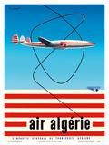 """Air Algérie - Lockheed L-1049 Super Constellation """"Connie"""" Kunst af Guy Georget"""