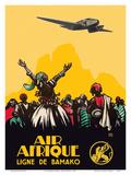 Air Afrique Airline - West Africa - Bamako Airlines (Ligne de Bamako) Posters af  Pacifica Island Art