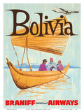 Bolivia - Braniff International Airways Print by  Pacifica Island Art