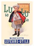 Lu Biscuits - The Little Student (Le Petit Ecolier) - Lefèvre-Utile (LU) Prints by Fermin Bouisset