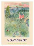 Normandy, France - SNCF (French National Railway Company) Posters par Raoul Dufy