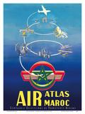 Air Atlas Maroc - Morocco 高品質プリント : G. Debureau