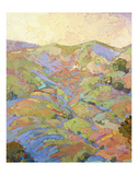 Hills in Quadtych (top left) Posters by Erin Hanson