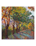 Lane of Oaks Art by Erin Hanson