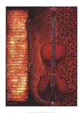 Red Cello Poster von Will Rafuse
