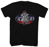 Evel Knievel- Distressed Oval Patch Shirts