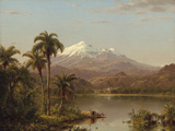 Tamaca Palms Giclée-tryk af Frederic Edwin Church