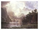 Sierra Nevada i Californien Plakat af Albert Bierstadt