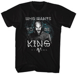 Vikings- Ragnar For King Tshirts