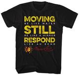 Bruce Lee- Movig Still Reposnd Distressed T-shirts